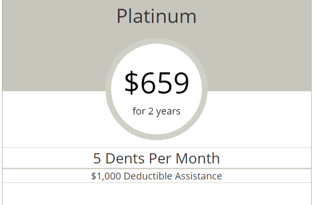 Platinum Dent Removal Hail Repair Plan