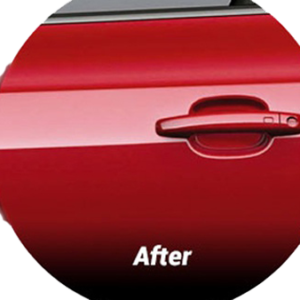 Hail repair after dent repair via PDR